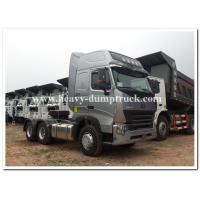 CHINA Howo  375 HP / 420 HP  heavy prime mover / tractor head  with air deflector and ABS