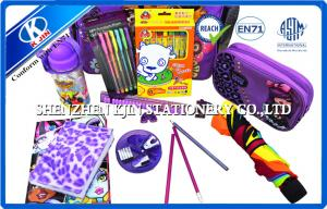 China Cartoon Kids Personalized Stationery Sets , Children School Bag With Wheels on sale