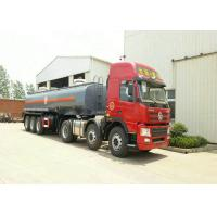 3 Axles Spring Suspension Chemical Tanker Truck For 33CBM Sodium Hypochlorite NaOCl