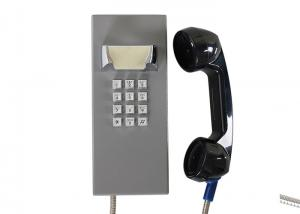 China Weatherproof Inmate Jail Telephone Robust Housing Durable Keypad With Grey Color on sale