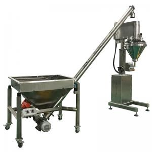 China High Accuracy Semi Automatic Auger Powder Filling Machine 60Hz With Feeder on sale