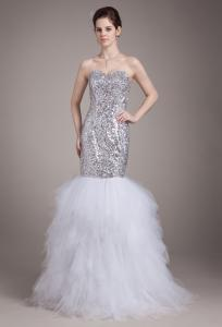 China Ruffles Fashionable 2013 Sequins Lace Tulle Sweetheart Strapless Mermaid Wedding Gowns on sale