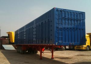 China 45ft Roof Opened Steel Dry Van Trailer / Dry Box Trailer With Tri Axles on sale
