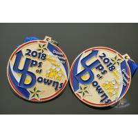 China Potter Running Metal Award Medals With Smooth Or Sandblasted Back Customized Shape on sale