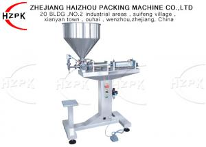 China 50-500ml Semi Automatic Filler , High Viscosity Filling Machine 1 Years Warranty on sale
