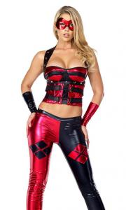 China Dreamy Jester Sexy Superhero Costume Wholesale with Size S to XXL Available on sale
