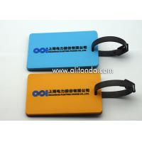 China Personalized Blank PVC Custom Luggage Tag With Name ID Card Perfect to Quickly Spot Luggage Suitcase Tag on sale