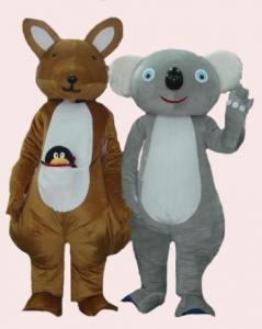 Quality traje vívido dos desenhos animados da mascote dos cangurus para o partido for sale