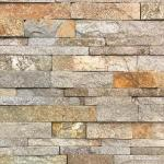 Brown Red Granite Stacked Stone Panels , External Decorative Stone