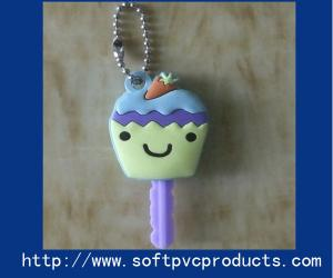 China Cute Novelty Keyrings Soft PVC Keychain for Souvenir / Christmas Gifts with Rubber , Silicone on sale