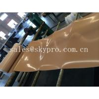 Natural gum rubber sheet roll tan color high tensile strength for punching seals / washer