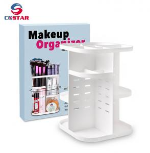 China 360 rotating glam caddy spinning makeup organizer stand cosmetic store storage display shelf on sale