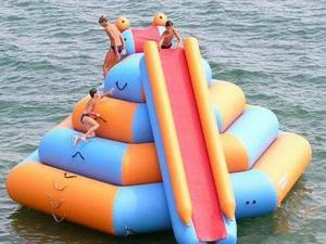 China Outdoor Inflatable Water Park For Lake / Inflatable Water Slides Climbing on sale