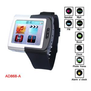 "China 1.8"" TFT True Color Screen Silicone MP4 Player Watch With FM Radio, 8G TF Card on sale"
