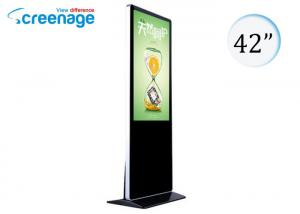 China 42 Inch Floor standing Kiosk With Touch Screen , Lcd Monitor Floor Stand on sale