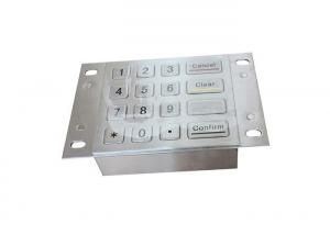 China 4 X 4 16 Keys Industrial Bank Machine Keypad With Metal Panel Mount Holes on sale
