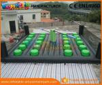 China 0.55 MM PVC Tarpaulin Eliminator Inflatable Meltdown Wipeout Inflatable Wipeout  wholesale