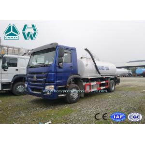 China Environmental Vacuum Sewage Suction Trucks , HOWO 4 x 2 Sewer Cleaning Truck on sale