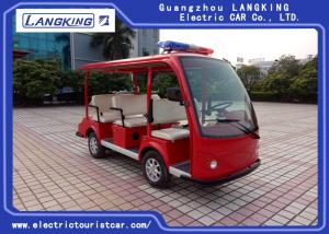China High Performance Red Electric Patrol Car For Tourist Resorts 2 Rear Turn Signals on sale