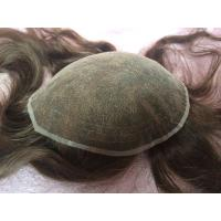China Elegant-wig high quality bleached knots French lace base toupee for women on sale