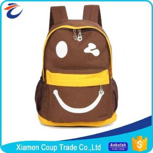 China Multifunction Primary School Bag Kids Canvas Backpack Custom Logo Print on sale