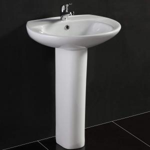 China 800*480*180mm White S1324 Cabinet face free standing wash basins Rectangular on sale