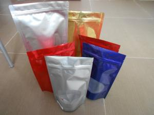 China Custom Snack Bag Packaging , BOPP / LDPE Stand up k Mylar Food Bags on sale
