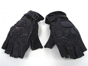China Black Half Finger Gloves,Made By Soft Leather And Elastic Fiber on sale