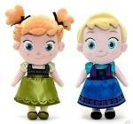 La pequeña felpa de Disney de las muchachas juega Elsa y las muñecas congeladas Ana del bebé los 30cm