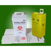 Safety box for disposal of used syringes and needles, 5 liters 02
