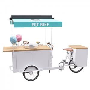 China Easy Operating OEM Bicycle Food Cart With Food Grade Safe Water Pump on sale