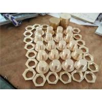 Copper Hexagon Nut Hardware CNC Machine Parts Metal Lathing Barrels Crankshafts Lathing