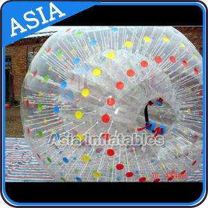China One Entrance Transparent Zorb Ball With Color Dots Used In Water on sale
