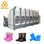 Two Stations EVA Rain Boot Making Machine With PLC Touch Screen System