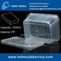 China PP 1000ml thin wall disposable rectangular plastic food box/ transparent packaging mould on sale