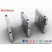 High Speed Drop Arm Turnstile , Magnetic Card Stainless Steel Access Control System