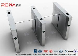 China High Speed Drop Arm Turnstile , Magnetic Card Stainless Steel Access Control System on sale