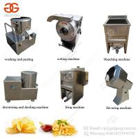 Semi-Automatic Potato Chips Cutting Blanching Frying Production Line Small Scale French Fries Making Machine