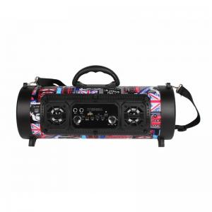 China CH-M17 Barrel Bluetooth Speaker  With FM radio function, built-in 87.5-108MHz FM digital radio module, can automatically on sale