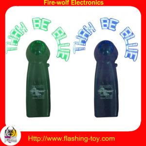 China promotional customized message Flashing Mini Fan with ABS Handle, pvc leaf on sale