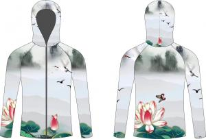 China Quick Dry Sublimated Fishing Jerseys Full Subliamtion Multi Color Choices on sale