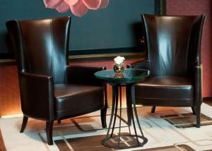Leisure Leather Chair Modern Lobby Furniture For 5 Star Hotel Public Area