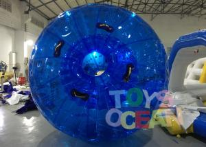 China Diameter 3m Blue Inflatable Bumper Auqa Zorb Walking Ball , Inflatable Zorb Ball on sale