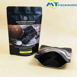 China Reusable Chocolate Nut Packaging Bags Aluminum Foil Zip Seal Stand Up Pouches on sale