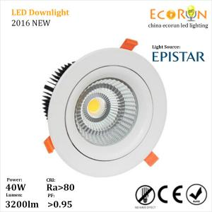 China adjustable 25w cree cob led downlight warm white with narrow beam angle 24deg on sale