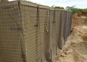China Hot Dipped Galvanized Military Hesco Barriers , Hesco Bastion Wall 5.0 Mm Mesh Wire on sale