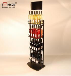 Liquor Shop Metal Wine Display Stand / Shelves Freestanding