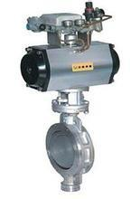 China Pneumatic Operated Power Station Valve Butterfly Valve Self-Cleaning on sale