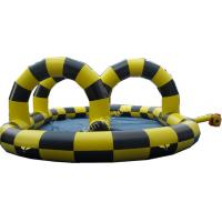 Customized Inflatable Go Kart Track For Toddlers Yellow And Black