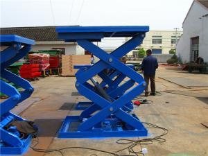 China 6m - 20m stationary hydraulic scissor lift platform 300kg / 500kg / 800kg on sale